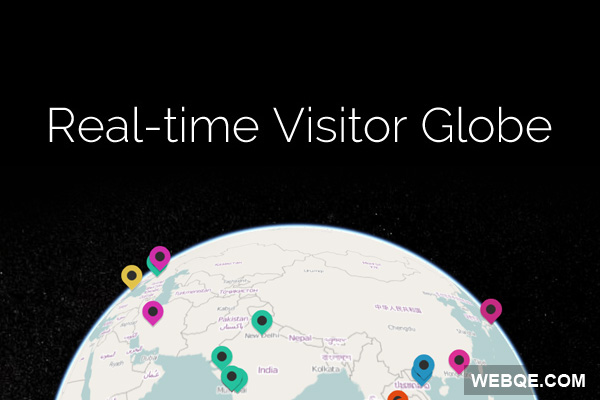 A 3D Globe to see real time visitors with Node.js and WebGL