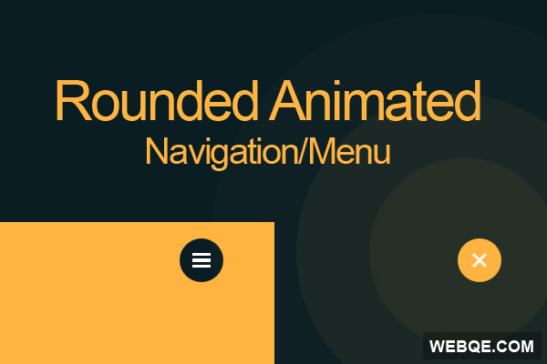 An animated circle navigation menu with CSS3 and jQuery