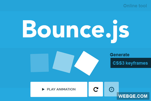 Bounce.js - Online JS tool to create smooth CSS3 animations