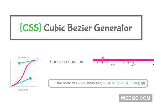 Cubic Bezier Generator - Create CSS3 easing animation online