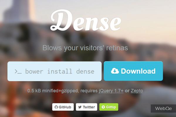 Dense - A jQuery Retina Image Plugin to Fix Blurry Images
