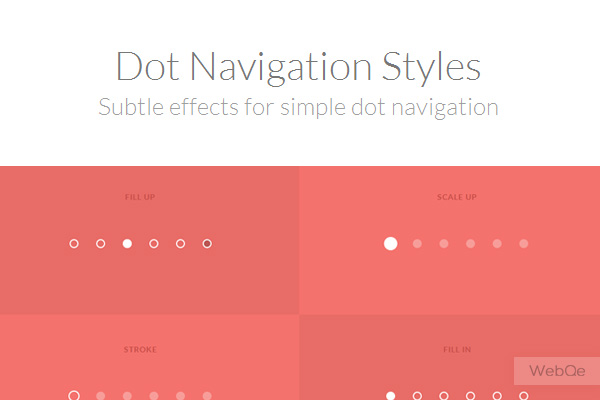 Dot Navigation Styles Creative Css3 Animation Effects