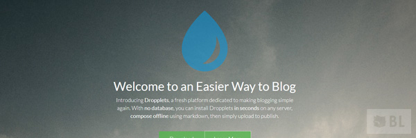 Dropplets A Simple And Clear Blogging And Cms System