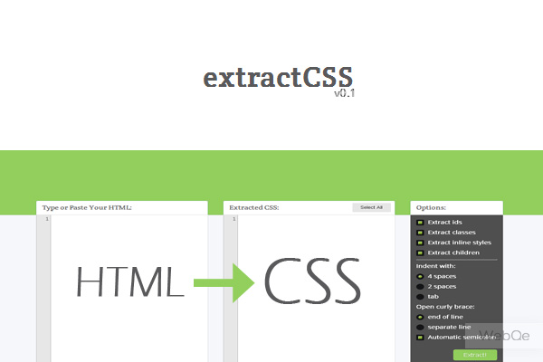 Extractcss Extract Css Stylesheet From Html Code Online