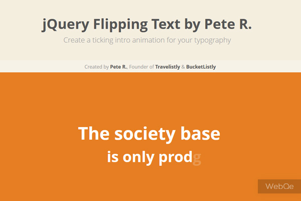 Flipping Text A Cool Jquery Text Effect Plugin