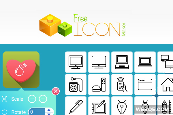 FreeIconMaker - A handy online icon tool to design icons