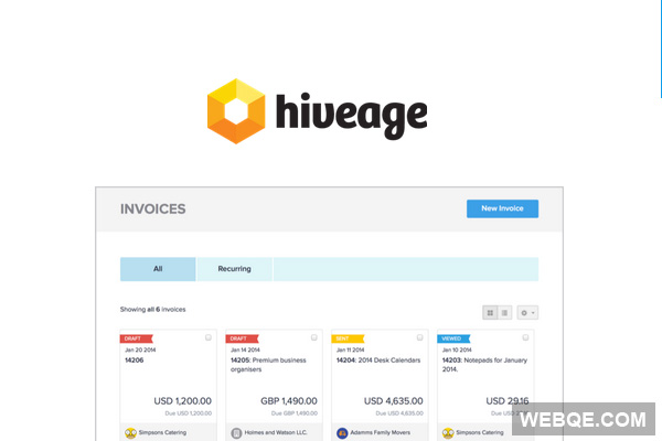 Hiveage - A simple and free online billing and invoicing system