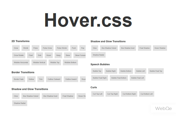 Hovercss Huge Css Collection With 40 Css3 Hover Effects