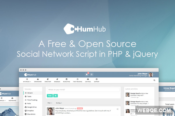 Humhub - A free and trendy social network script in PHP