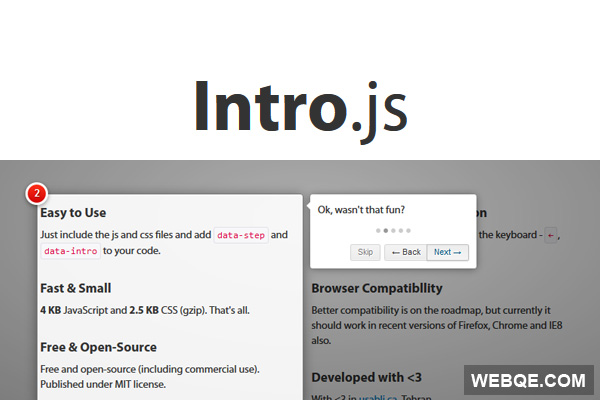Intro.js - Create step by step introduction for your site