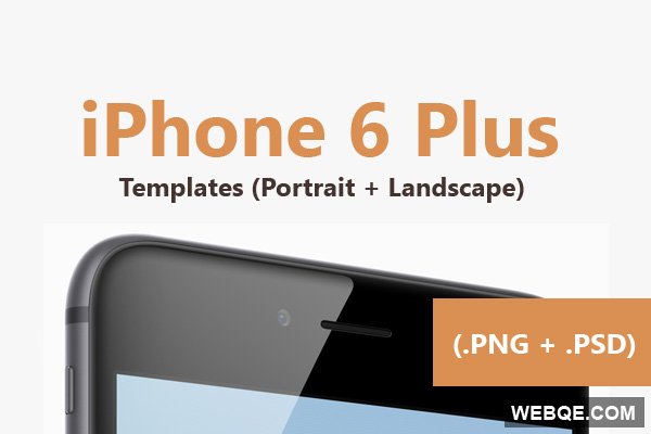 iPhone 6 Plus template in PSD and PNG free download