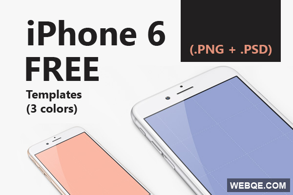 iPhone 6 template in PSD and PNG free download