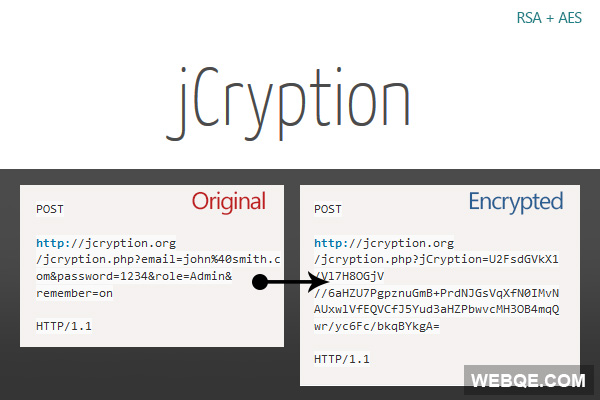 jCryption - A SSL alternative to encrypt JavaScript data