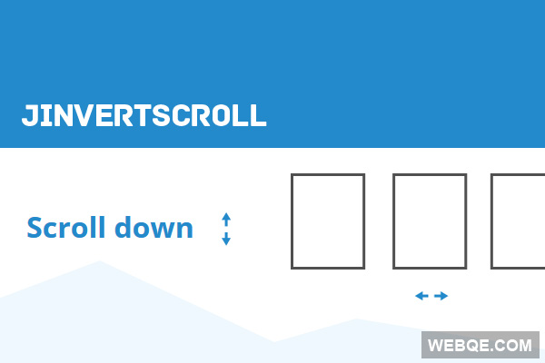jInvertScroll - A Cool horizontal scroll with jQuery