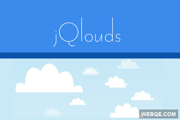 jQlouds - Create flat style animated clouds with jQuery