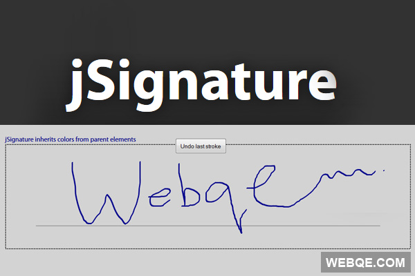 jSignature - Create signature image from HTML5 with jQuery