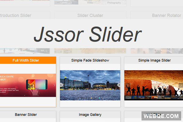 Jssor Slider - The most complete JavaScript slider library