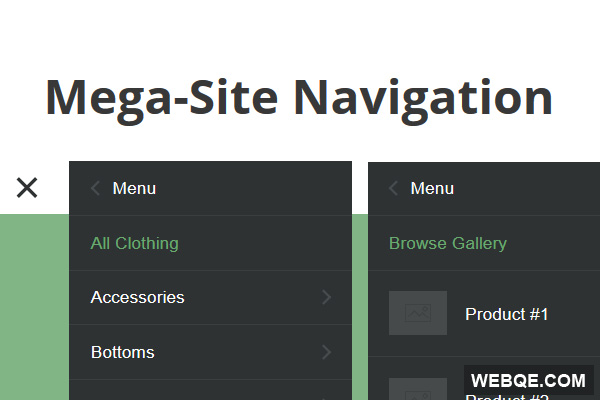 Mega-Site Navigation - Responsive navigation for large menu