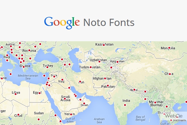 Noto Fonts - A New Free Font Family support all languages characters