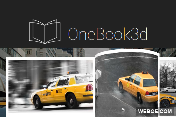 OneBook3d - A jQuery plugin to create 3D books or magazines