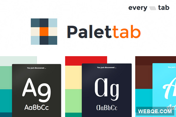 Palettab - Hit new tab for cool fonts and colors inspiration