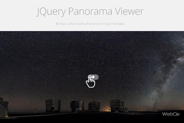 Panorama Viewer Drag To Slide Jquery Panorama Image Plugin