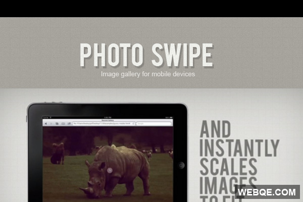 PhotoSwipe - A free image gallery for mobile and touch devices