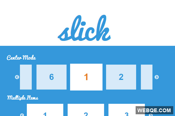 Slick – Powerful responsive touch-enabled image carousel