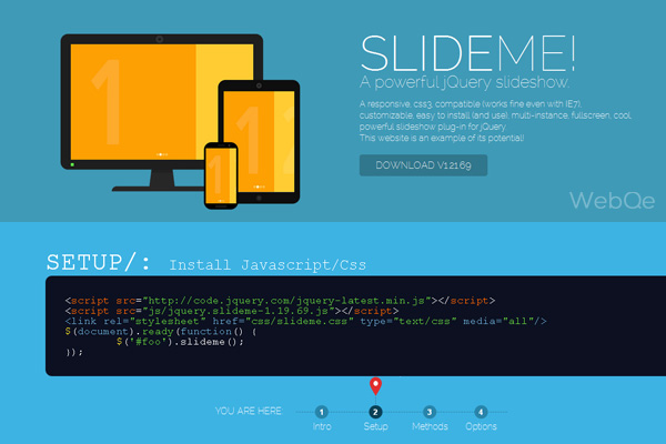 Slideme A Free Fullscreen Css3 Jquery Slideshow Plugin