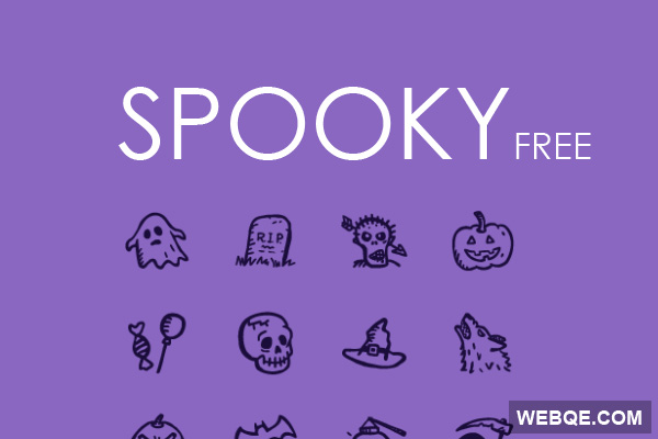 Spooky - Free hand drawn Halloween vector icon set (12 icons)