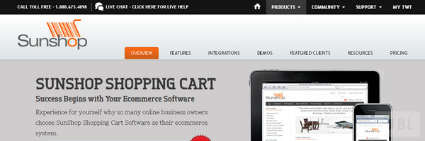 Sunshop Best Premium E Commerce Software Online Shopping Cart 2013