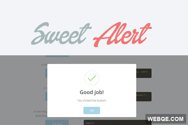 SweetAlert - A beautiful way to replace JavaScript alert box
