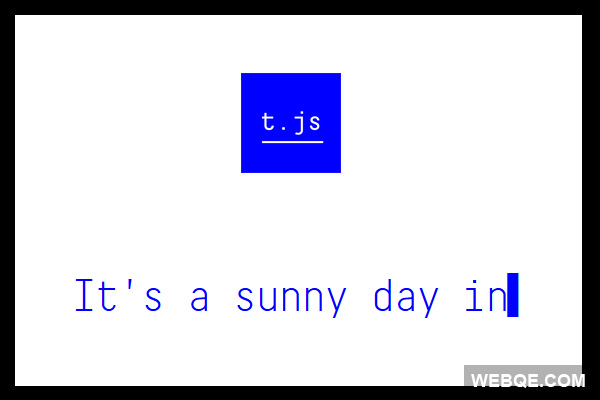 t.js - A jQuery command prompt style typewriter plugin
