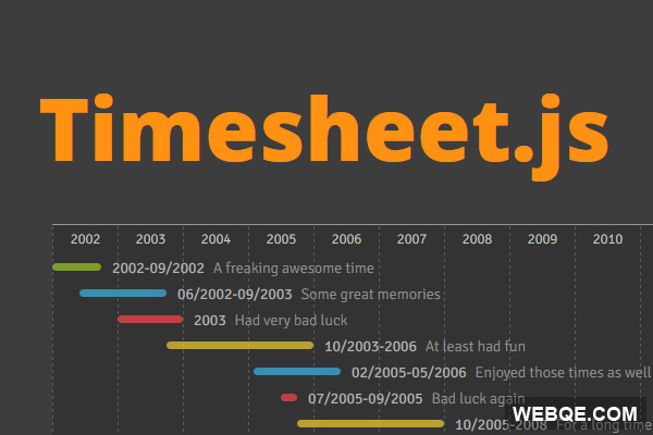 Timesheet.js - JavaScript Time Sheets in HTML5 and CSS3