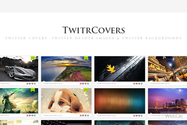 Twitrcovers 1000 Free Twitter Cover Background Images