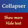 Collapser - jQuery Collapse Text Plugin to Shorten Content