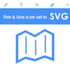 Free SVG thin and line icon sets for web (63 icons)