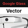 Google Glass vector mockups and templates in AI and PSD free download