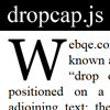 dropcap.js - A new way to make magazines like drop caps