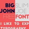 Modern san-serif fonts Big John and Slim Joe free download