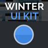 Winter UI Kit - A free blue white and flat glossy UI in PSD