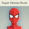 Free flat super heroes busts vector icon set (26 icons)