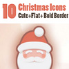 Free cute Christmas items vector icon set (10 icons)