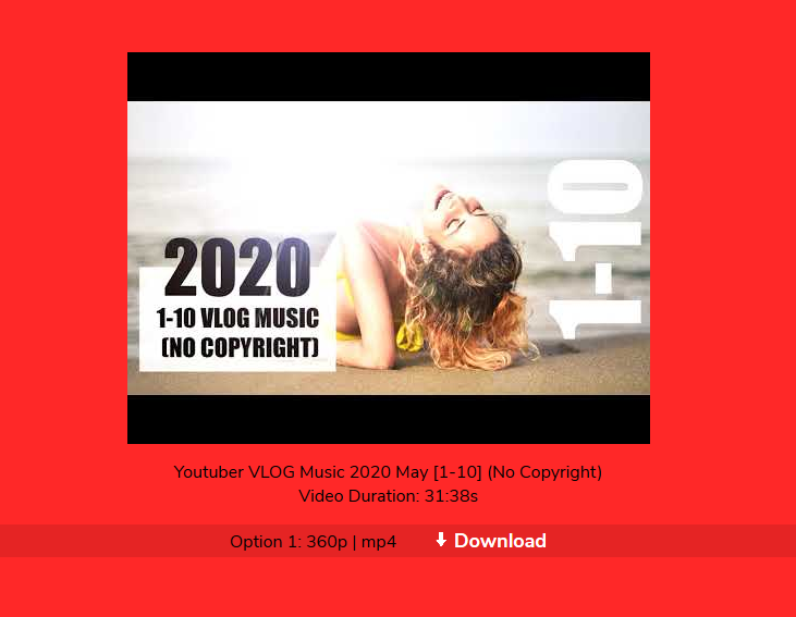 How to download youtube video for free Step 2 - Click the download button to save your video!